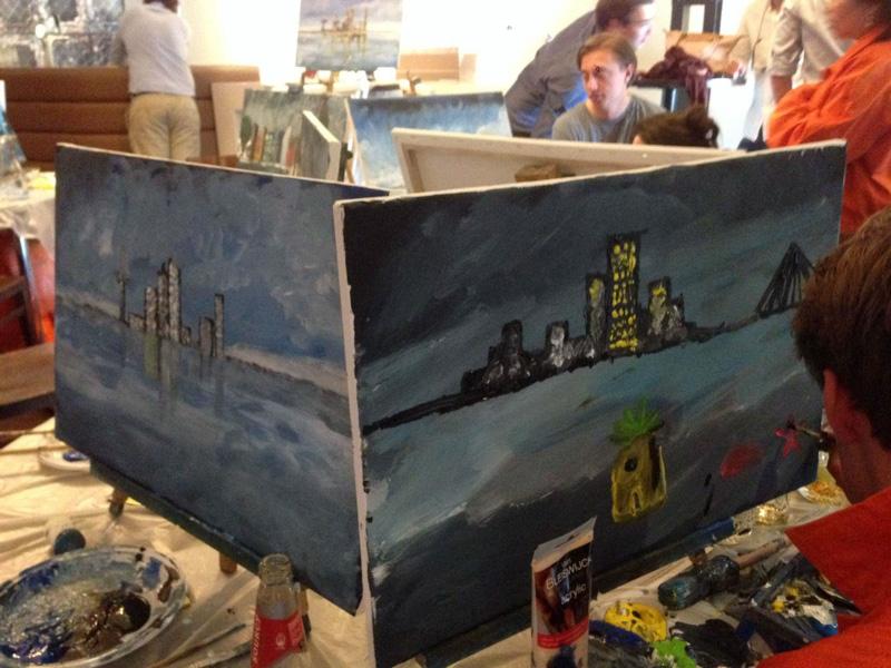 Skyline schilderen