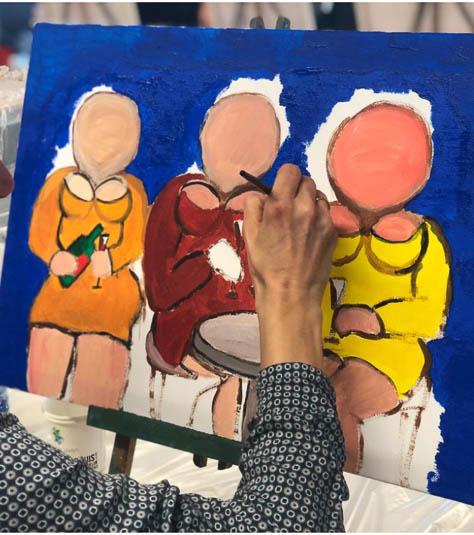 Uitgelezene Workshop Dikke Dames Schilderen • Puur* Rotterdam QH-27